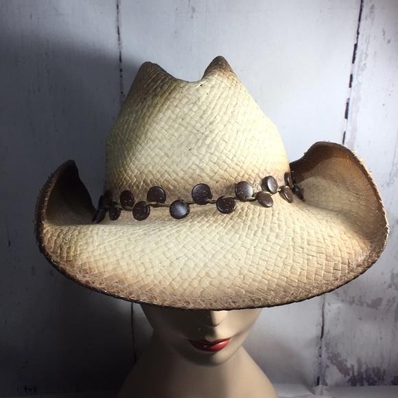 Accessories - Straw stif brim wrangler style cowboy hat OSFM faa203b82dac